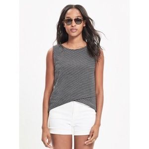 Madewell Striped Crossover Tank